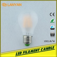 Trade assurance led golden supplier 6w Filament LED Bulb Light Rep 6w Incandencent Bulb A60 E26 Sapphire LED Chip