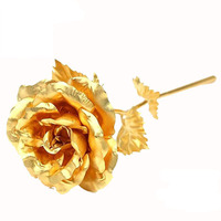 24k gold foil rose, blooming rose big size 25x8cm, factory wholseale wedding giveaway gift, Christmas/Festival/valentines gifts