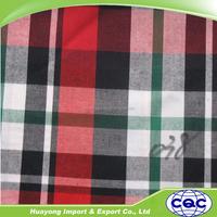100% Cotton yarn dyed plaid textile shirt fabric on sale
