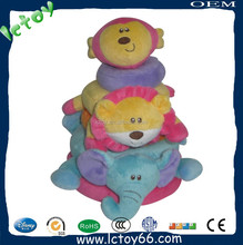 New design attractive funny education animal toy plush for baby
