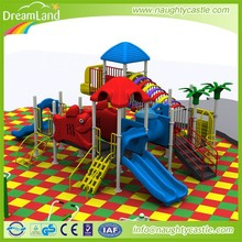 Kids outdoor adventure gym structure plastic jungle gym