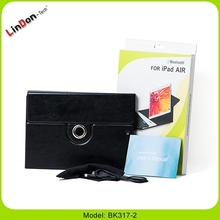 New PU Leather Keyboard Case for iPad 5, Slim ABS Wireless Keyboard Case With 360 Degree Rotate BK317-2