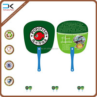 Gourmet food advertising plastic fan for promotion