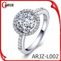 Moda joyas pavimenta el diamante del vintage anillos de boda caliente de la venta
