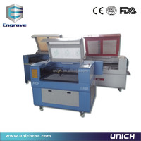 Cheap Wood/MDF/Acrylic/Paper/Leather/Fabric/Rubber/Brick/PVC fiber laser cutting machine LXJ9060