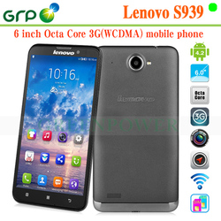 2015 Hot sale S939 Android 4.2 MT6592 Octa Core Built-in 3G 6 inch smartphone lenovo with high quality