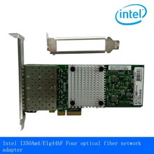 NEW intel I350AM4 I350-F4 SFP Four port optical fiber network