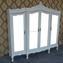 Luxury designs new modern painted white wooden wardrobe for bedroom