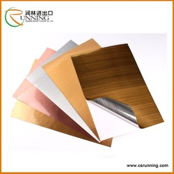 Self adhesive label PVC film Wire drawing silver PET film