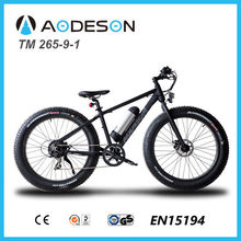 Hot sale fat tyre electric bike snow bicycle beach cruiser high quality CE, EN15194