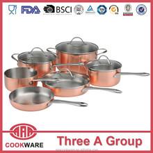 DW 3ply copper cookware set