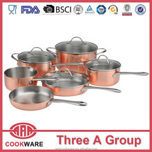 DW Multiply copper cookware set