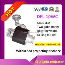 one image rotating around another gobo projector light LED 10w