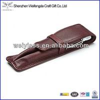 High Quality Unique Fashion Design Double Leather Pen Case