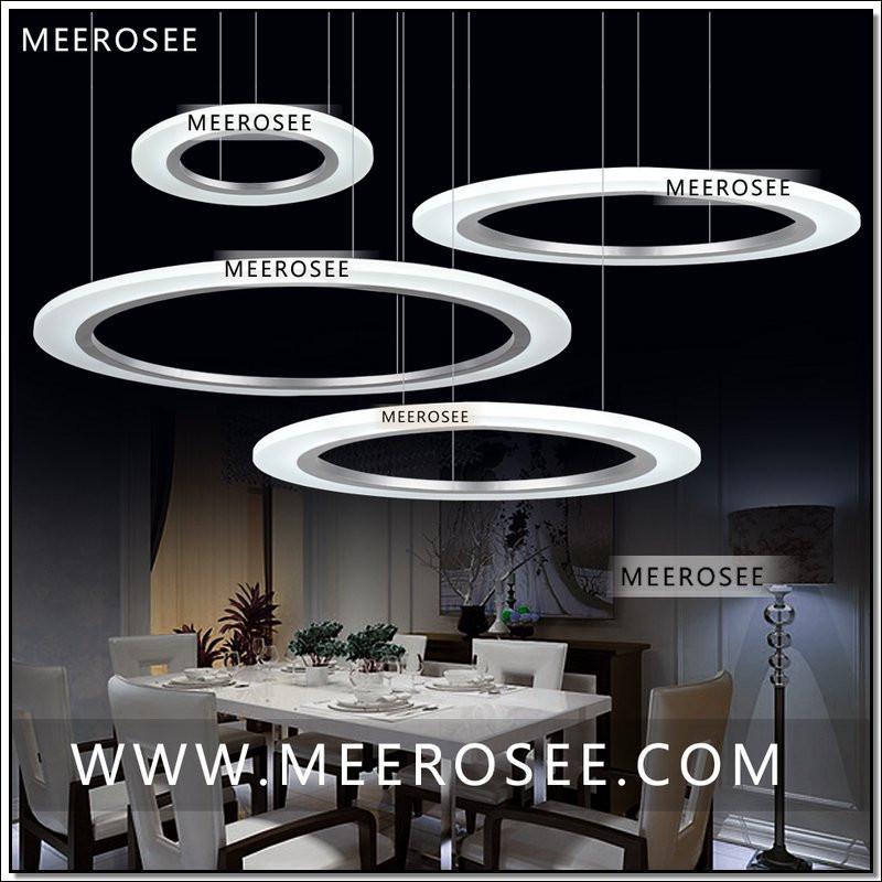 Contemporain LED Light Pendant Arcylic Cercle Anneau