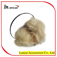 2016 new style high quality professional girls fur thin strap earmuff