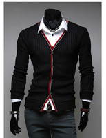 MOQ 1pc hot sale cheap price slim V-neck sweater polyester and cotton mixed men sleeveless cardigan