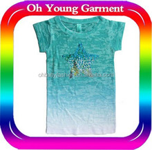 chilidren burn out t shirt pretty girls burn out clothes custom cool dry fit high quality burn out t shirt for special printing