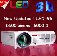 LED-96 Home theater projectors 5500 Lumens1080P 3D Full HD LCD TV LED96 Projector Video Beamer