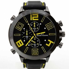 Hot sale big face man watch custom fashion watches for promotion