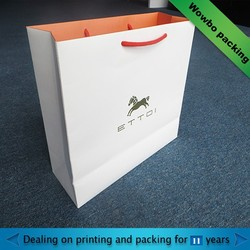 Hot stamping foldable cardboard paper bag