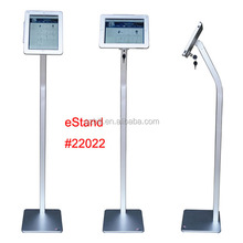 display floor stand for iPad air/ security lock enclosure mount/ tablet kiosk anti-theft holder/ eStand commercial bracket