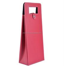 leather wine carrier wine bottle bag