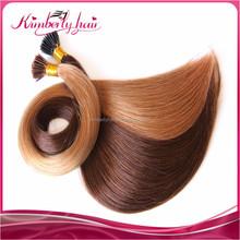 Kimberlyhair 100% indian temple human hair chocolate straight tip hair Remy Double Drawn Hair
