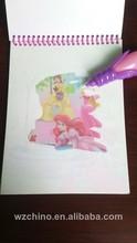 2014 novo projeto dos desenhos animados desenho crianças livro para colorir com caneta como presentes das crianças
