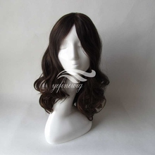 Wavy Color #6 Long Layer 16'' Remy Mongolin Hair Jewish Wig