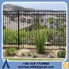 Garden Security Black Powder Coated Ornamental simple cheap wrought iron fence panels for sale
