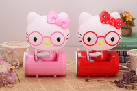 Best Price Wholesale Funny Pink Red Kitty Cat Table Night Lights for Children's Room