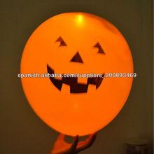 Halloween led pumpkin head helium balloon