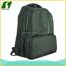 Double strap laptop backpack waterproof and multi-function nylon computer backpack