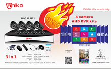 2015 Latest Promotion H.264 4CH Video Cameras Kit with Internet and P2P Function