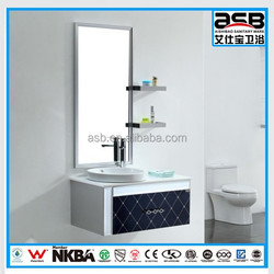 standard size with double shelves Stainless Steel bathroom wall cabinent