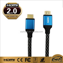 Premium quality cable with metal shell supporting Ethernet channel with nylon mesh