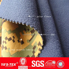 2015 Fashion 3 Layers Waterproof Breathable Polar Fleece Bonded Fabric, Bonding Fabric, TPU Laminated Fabric With TPU Membrane