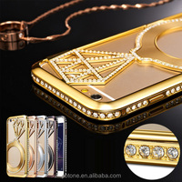 2015 new model slim diamond luxury phone hard back case cover for iphone 6