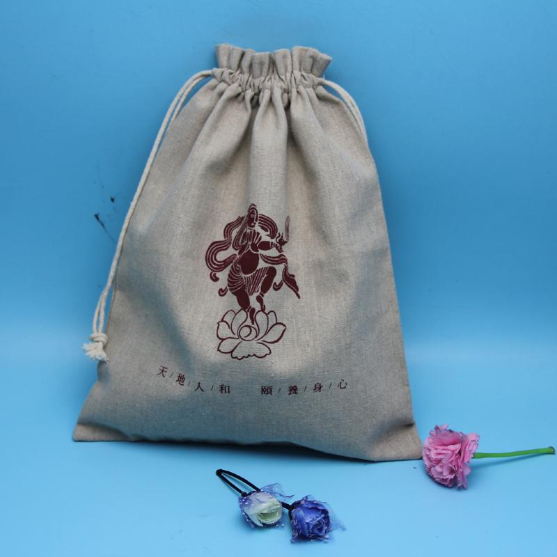 Cheap fashional drawstring jute promotional pouch