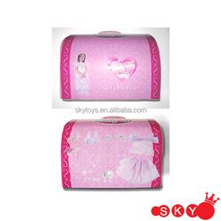 2016 little princess gown princess crown for girls princess printed paper box