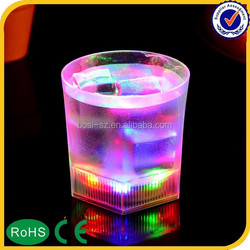 2015 Hot Promotional Baware Flashing Plastic Shot LED Glass, Multicolor Light Up Cup, Drinking Led Cup