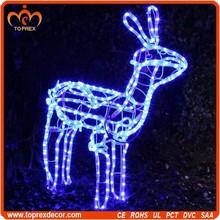Arts and crafts blue Christmas deer led light