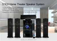Hot selling! Wooden cabinet 5.1 home theater music system