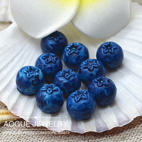 resin flat back candy fruit blue berry flat back cabochon 9mm free shipping