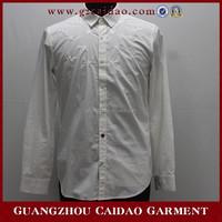 Wholesale cheap customized white formal dress shirt