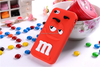 Cute 3D Chocolate Bean Phone Silicon Back Cover Case For iPhone 4 4S