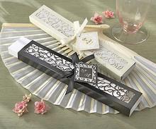 Luxurious Silk Fans / Wedding Gift Personalized Silk Fan