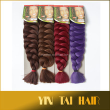 "Synthetic Marley Ultra Braid / Xpression Hair For Braid Hair Extensions Kanekalon Jumbo Braid 82"" 210g Free Shipping"