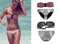 Factory price custom new design hot sex brazilian recycled neoprene spandex colorful nude women sheer mesh bikini